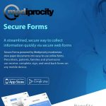 Image of the Secure Forms intro flyer