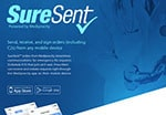 SureSent flyer describes prescription and controls orders from your phone or mobile device